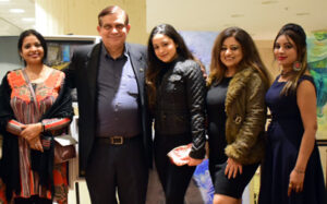 An art and wine event by Vikram Sethi